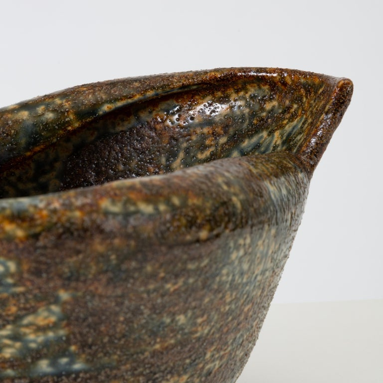 20th Century Rolled-Edge Ceramic Bowl For Sale