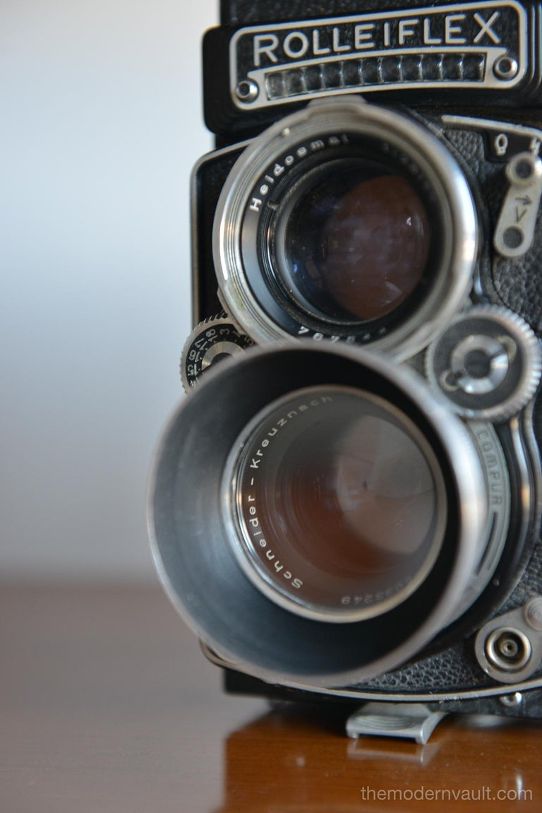 Rolleiflex 2.8E TLR Camera with Case and Accessories, circa 1958 For Sale 4