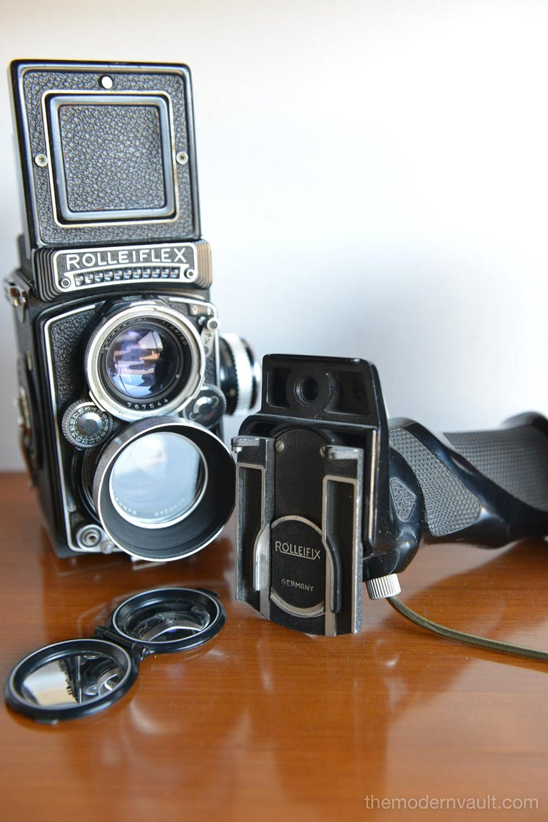 Rolleiflex 2.8E TLR Camera with Case and Accessories, circa 1958 For Sale 7