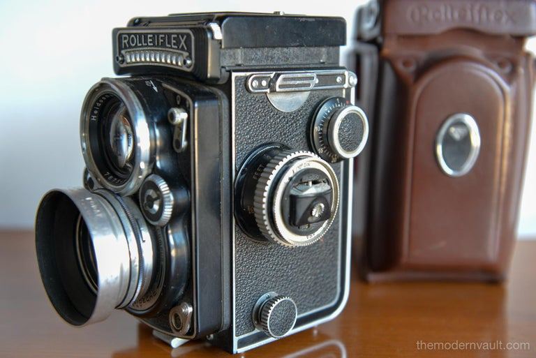 German Rolleiflex 2.8E TLR Camera with Case and Accessories, circa 1958 For Sale