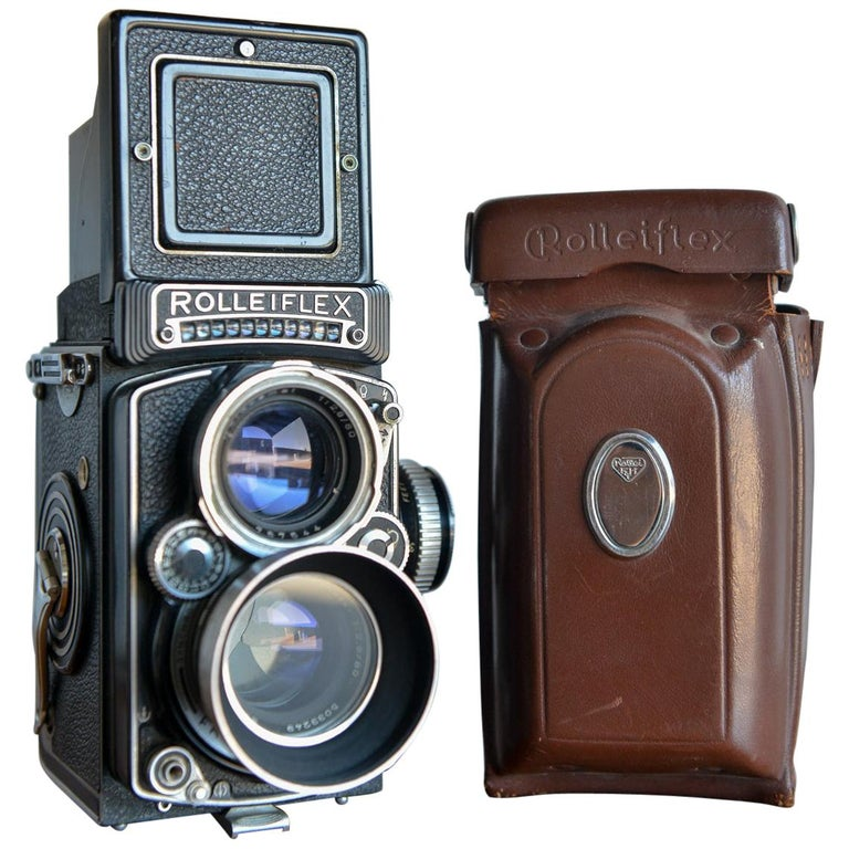 Rolleiflex 2.8E TLR Camera with Case and Accessories, circa 1958 For Sale