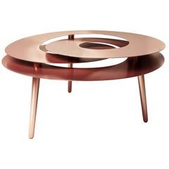 Rollercoaster Large Table, Copper-Plated Stainless Steel