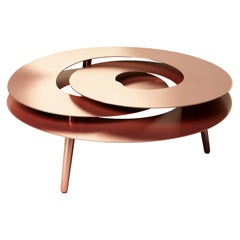 Rollercoaster Medium Coffee Table, Stainless Steel Copper-Plated