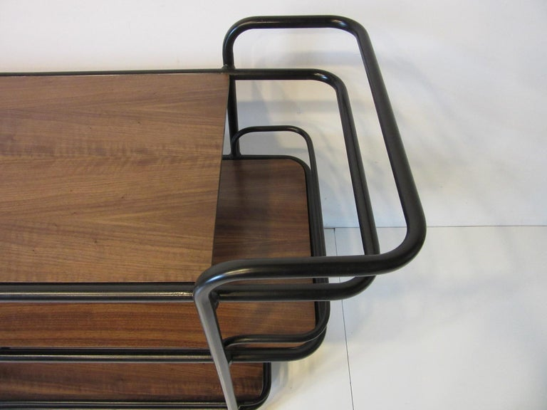 20th Century Rolling Bar Cart in the Manner of Art Deco / International Style For Sale
