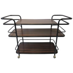 Rolling Bar Cart in the Manner of Art Deco / International Style
