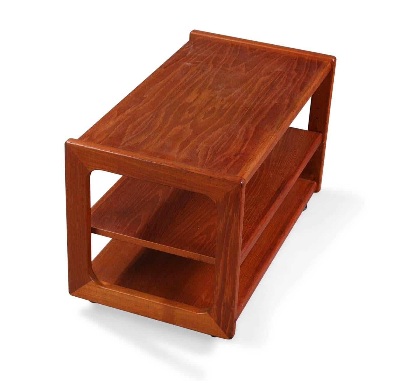 Rolling coffee table for sale at 1stdibs