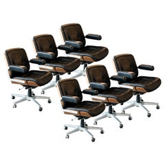 Rolling Conference Chairs by Stoll for Giroflex, Germany, 1960s