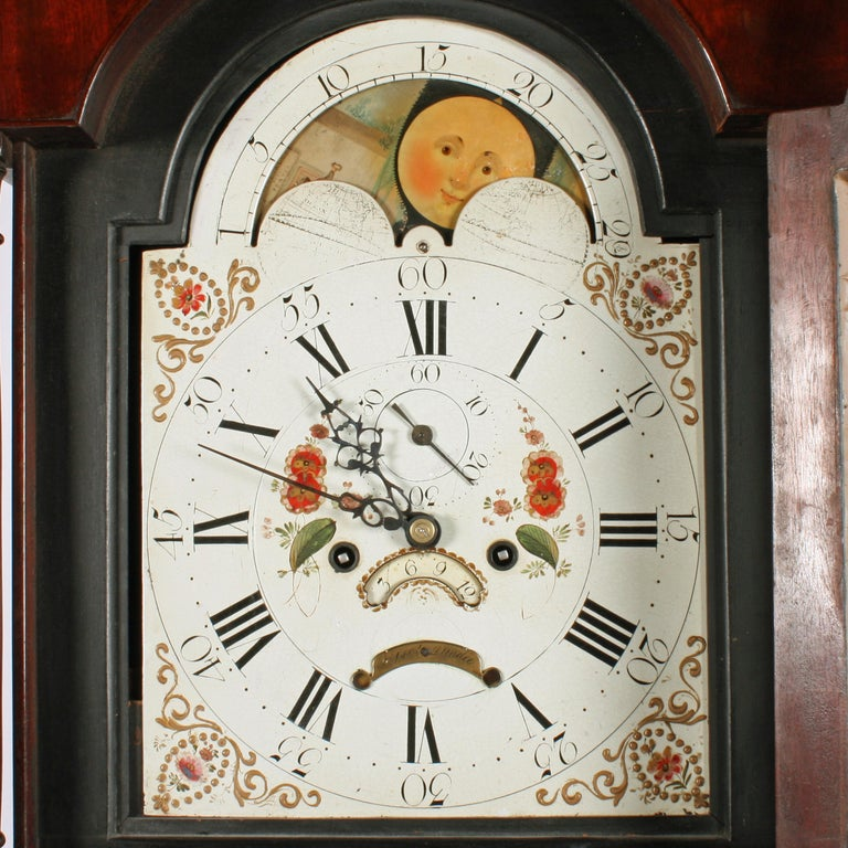 Rolling Moon Dial Grandfather Clock At 1stdibs