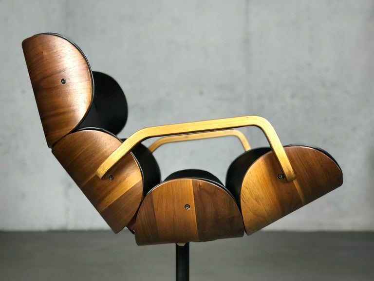 Rolling Segmented Lounge or Desk Chair by George Mulhauser for Plycraft For Sale 3