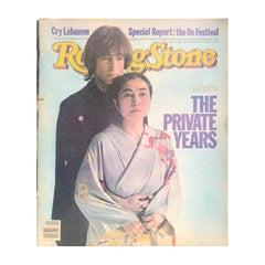 Rolling Stone Yoko Ono and John Lennon Original October 14 1982 Magazine