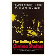 Rolling Stones 'Gimme Shelter' Original Vintage Movie Poster, American, 1970