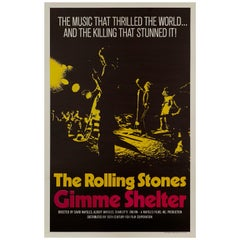 Rolling Stones 'Gimme Shelter' US Film Poster, 1970