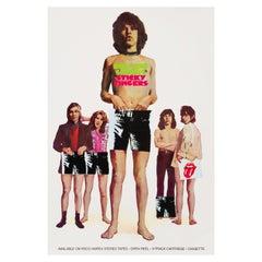 Rolling Stones 'Sticky Fingers' Original Vintage Promotional Poster, 1971