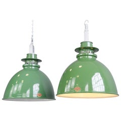 Rolls Royce Factory Pendant Lights by Thorlux, circa 1950s