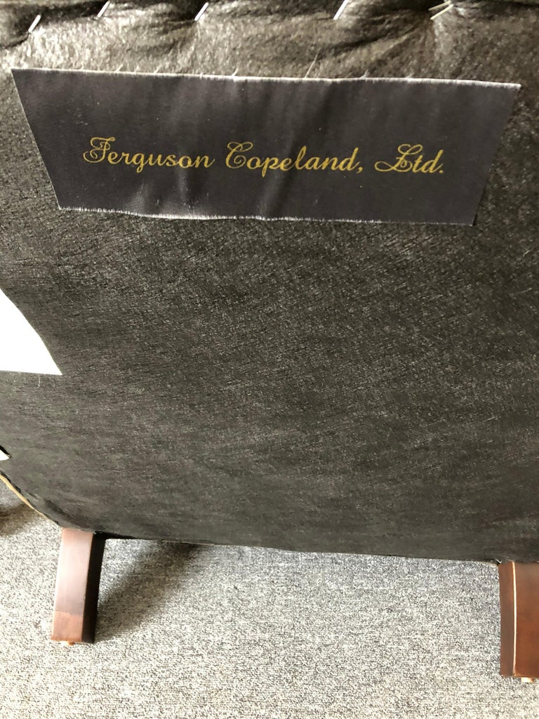 Rolls Royce of Quilted Leather Lounge Chairs with Ottomans by Ferguson Copeland For Sale 6