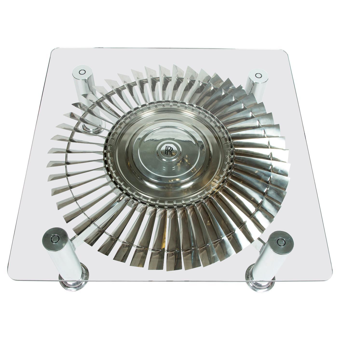 Rolls Royce Pegasus Titanium Turbine Table