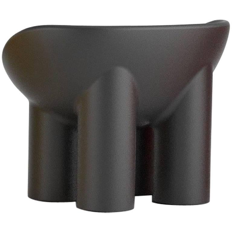 Roly Poly Polyethylene Armchair in Charcoal by Faye Toogood for Driade For Sale