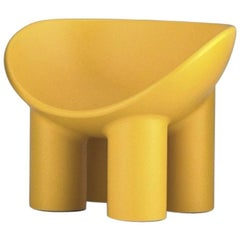 Roly Poly Small Polyethylene Armchair in Ochre by Faye Toogood for Driade