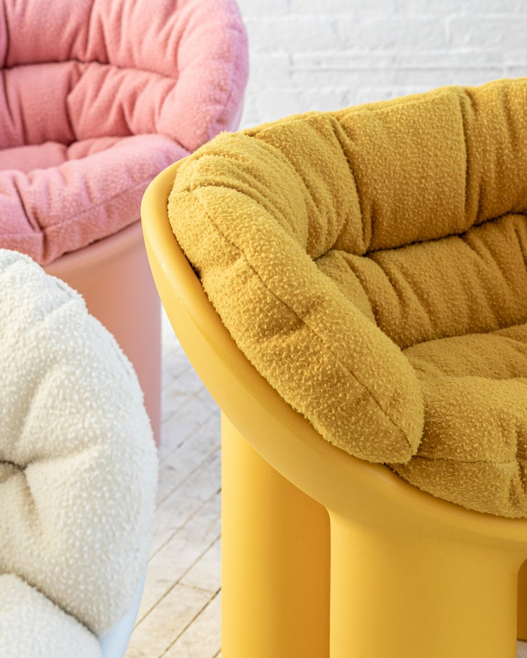 Roly Poly X Casentino Armchair in Pink with cushion by Faye Toogood For Sale 5