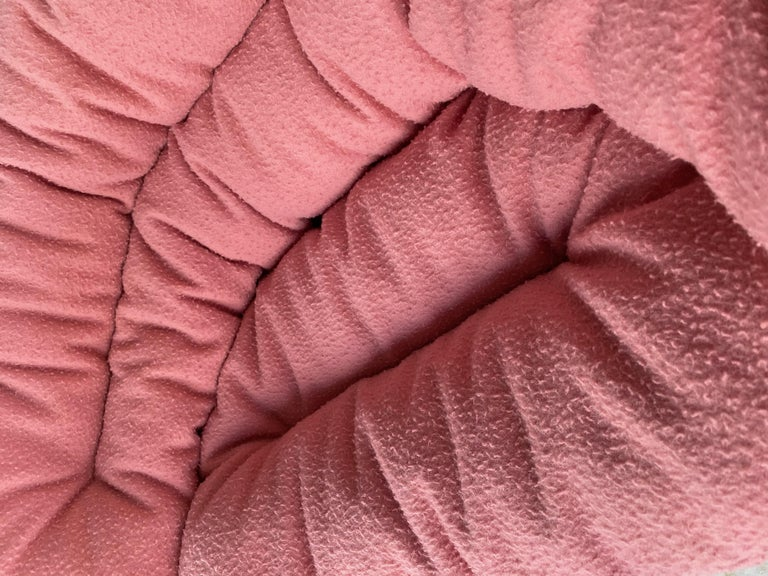 Roly Poly X Casentino Armchair in Pink with cushion by Faye Toogood In New Condition For Sale In New York, NY
