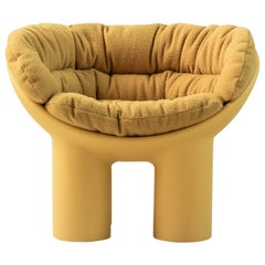 Roly Poly X Casentino Armchair in Yellow with cushion by Faye Toogood