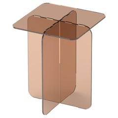 ROMA Contemporary Side Table in Colored Acrylic by Ries