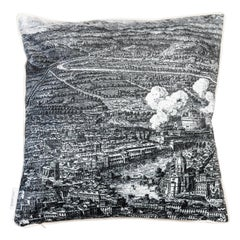 Roma, Contemporary Velvet Printed Pillow by Vito Nesta