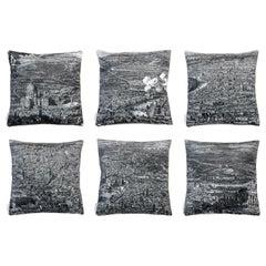 Roma, Contemporary Velvet Printed Pillow by Vito Nesta