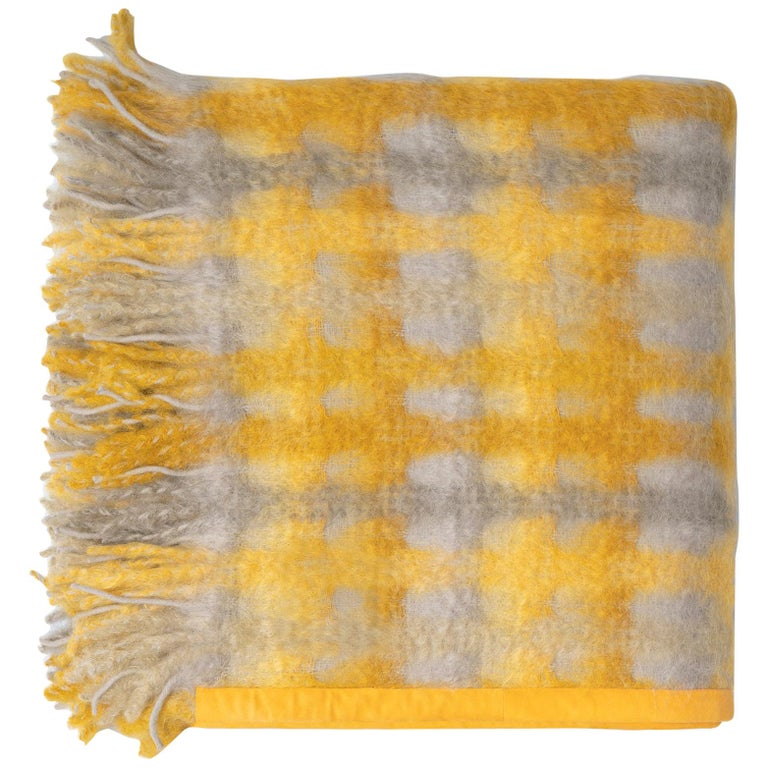Roma Mohair Plaid For Sale