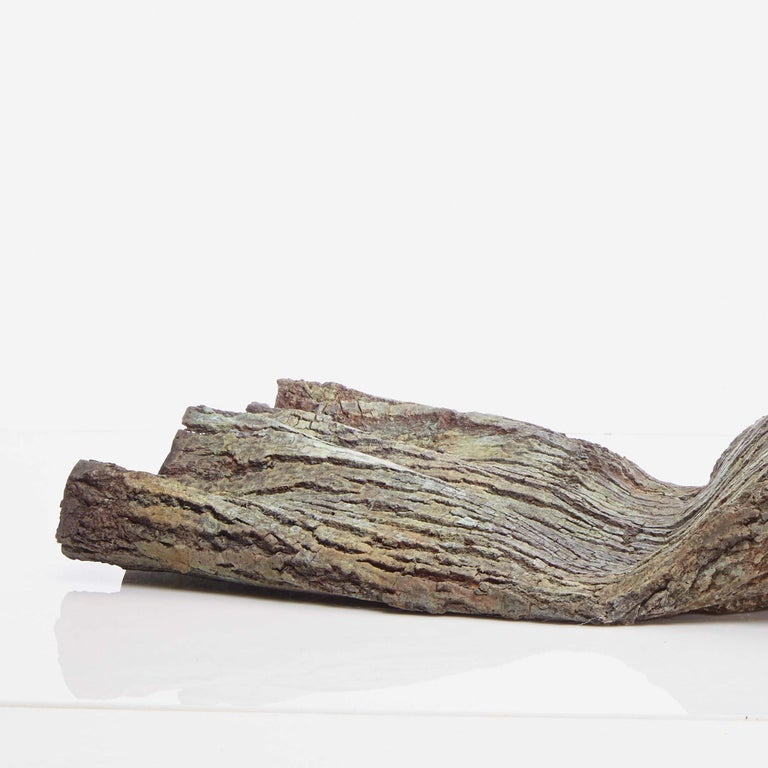 Container by Romain Langlois - Wood-like bronze sculpture For Sale 3