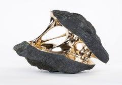 Gravity - Rock-like bronze sculpture