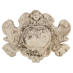 Roman 18th Century Baroque Family Coat of Arms in White Carrara Marble