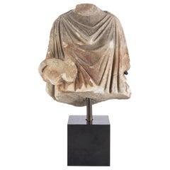 Roman 2nd Century Elegant Draped Torso Fragment of a Female Deity