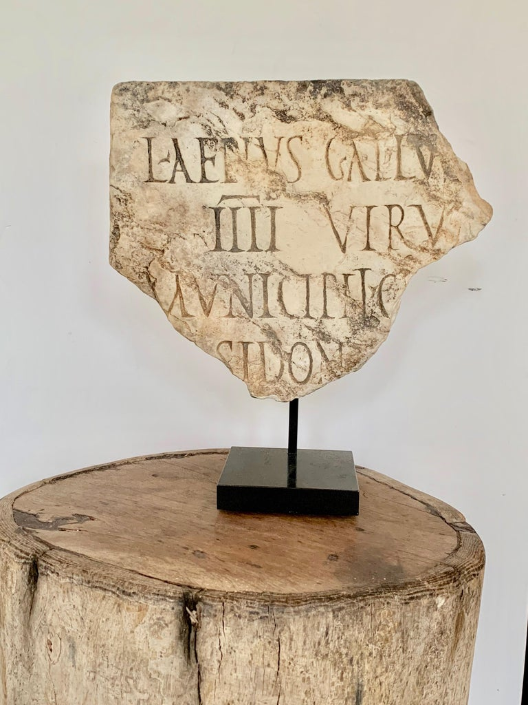 Spanish Roman Antiquities Fragment Stone Sculpture, 2nd Century AD, Spain For Sale