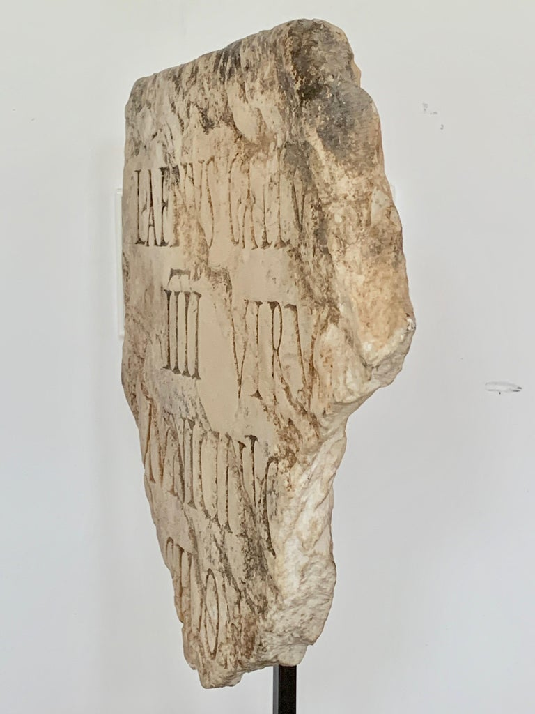 Roman Antiquities Fragment Stone Sculpture, 2nd Century AD, Spain In Good Condition For Sale In Girona, Spain