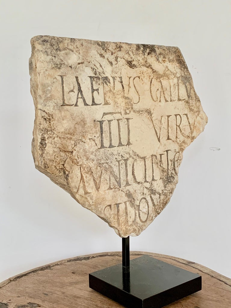 Marble Roman Antiquities Fragment Stone Sculpture, 2nd Century AD, Spain For Sale