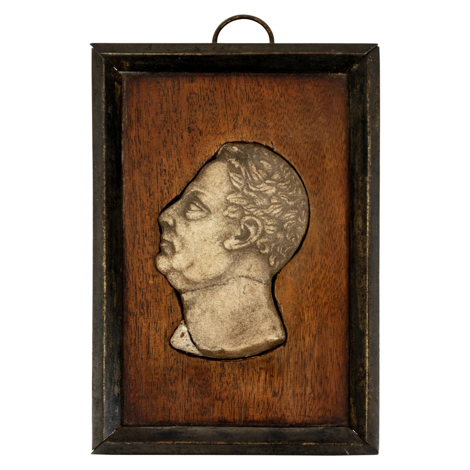 Roman Bas Relief Marble Profile of Man