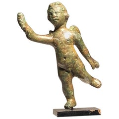 Roman Bronze Statuette of the Young God Eros 'Cupid'