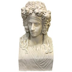 Roman Bust / Herm 'Personification of Comedy' after the Antique