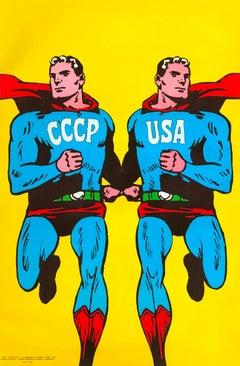 Roman Cieslewicz Superman CCCP USA silkscreen 1968
