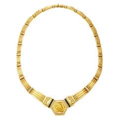 Roman Coin Gold Necklace