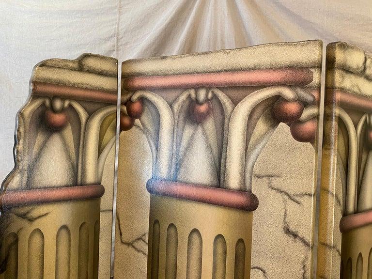 Roman Columns 6-Panel Screen In Good Condition For Sale In Philadelphia, PA