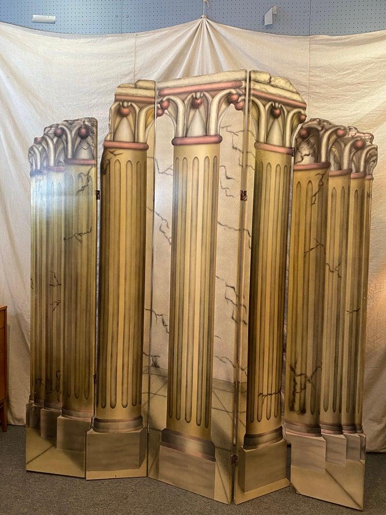Roman Columns 6-Panel Screen For Sale 2