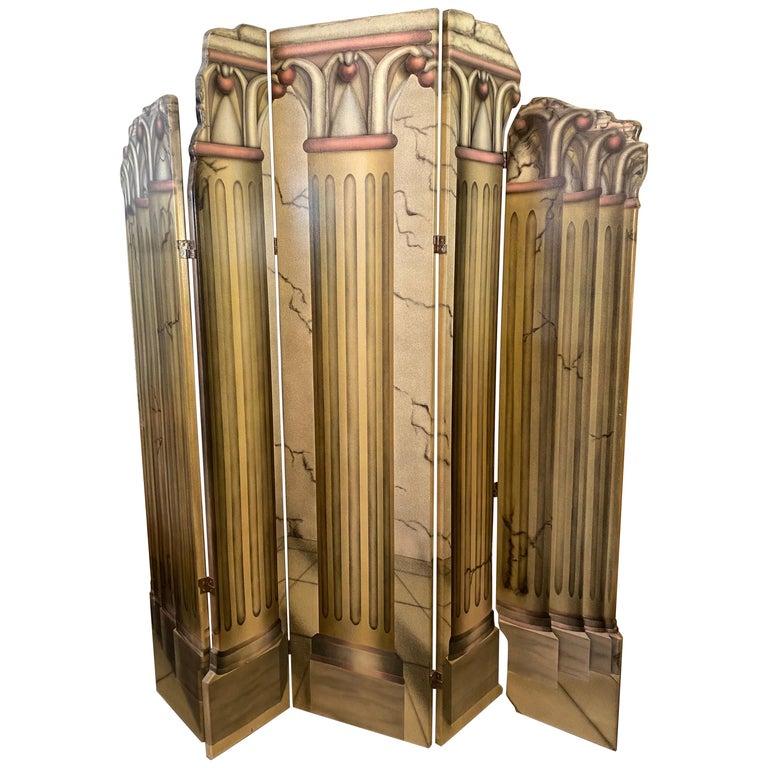 Roman Columns 6-Panel Screen For Sale