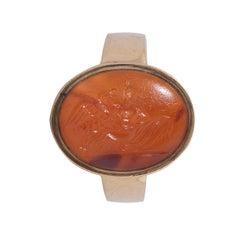 Römischer Ring mit Tiefdruck
