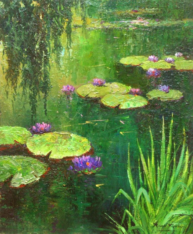 Nenufares (Lily Pads) - Painting by Roman Frances