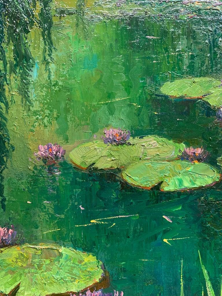 Nenufares (Lily Pads) - Impressionist Painting by Roman Frances