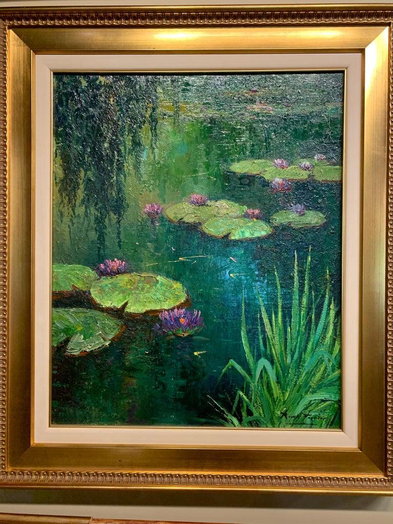 Roman Frances Landscape Painting - Nenufares (Lily Pads)