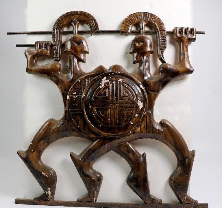 Mid-Century Modern Roman Gladiators Plaster Sculpture by Frederick Weinberg For Sale