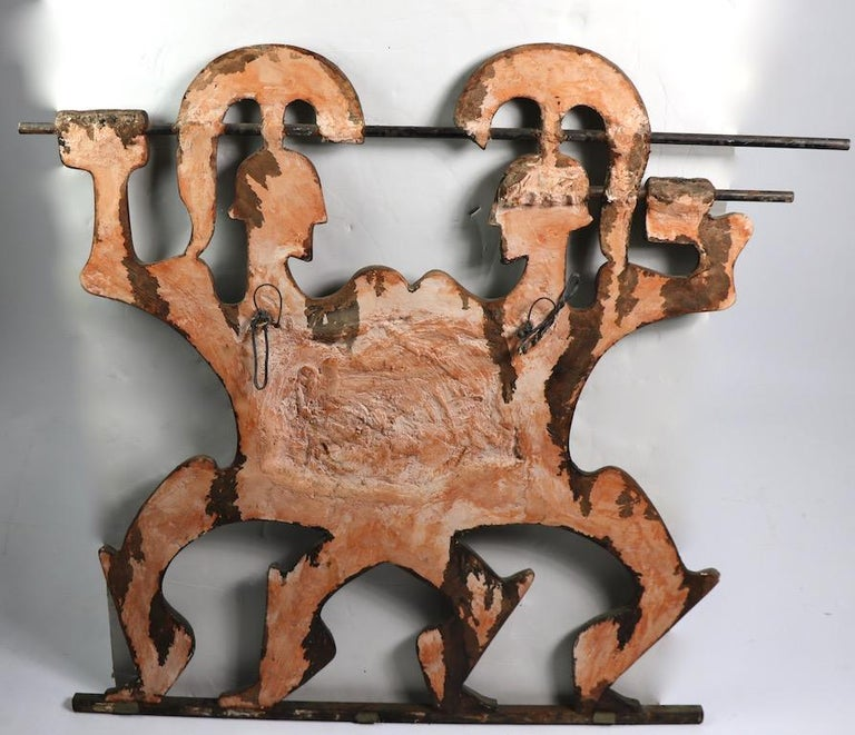Roman Gladiators Plaster Sculpture by Frederick Weinberg For Sale 2